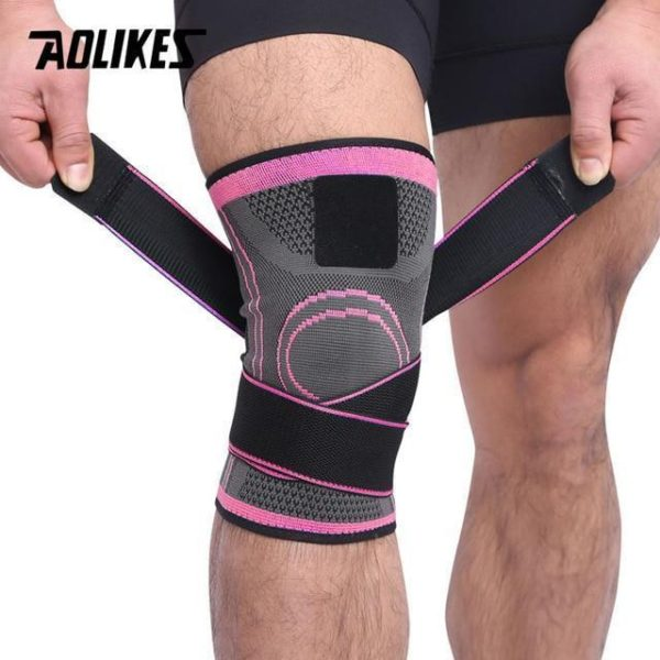 AOLIKES 1PCS 2019 Knee Support Professional Protective Sports Knee Pad Breathable Bandage Knee Brace Basketball Tennis Cycling - FRESHWALK España   Nueva Colección Online